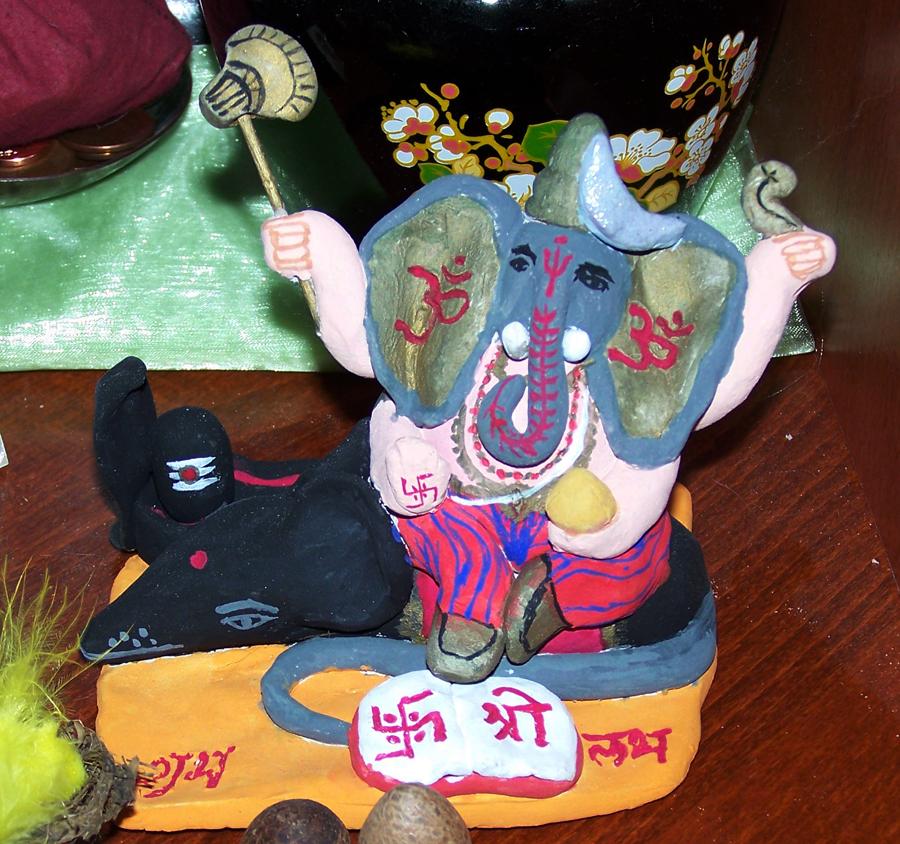 Ganeshji auf meinem Altar
