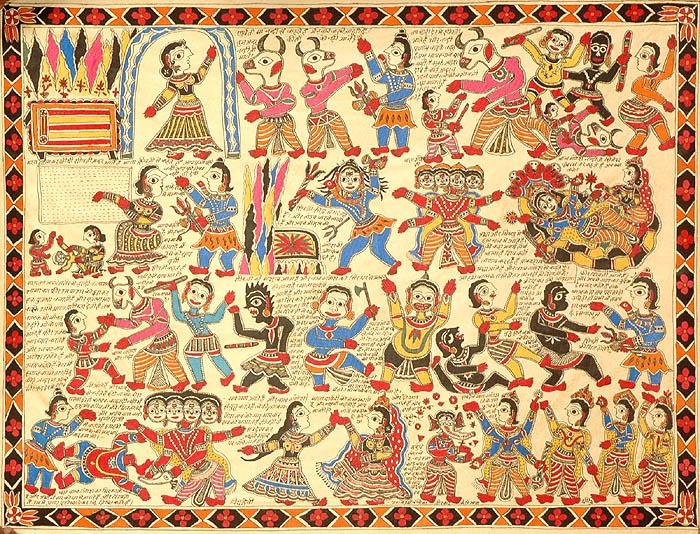 Erschaffung Ganeshas und wie Er Seinen Elephantenkopf bekam Künstler/Artist: unbekannt/unknown; Quelle: exoticindiaart.com