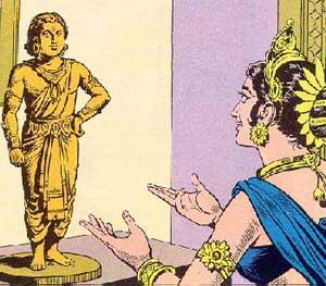 Erschaffung Ganeshas durch Parvati Künstler/Artist: unbekannt/ unknown; Quelle: shreeganesh.com