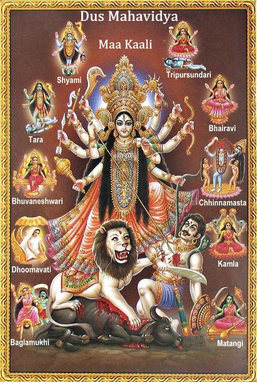 Durga und die Dash-Mahavidyas