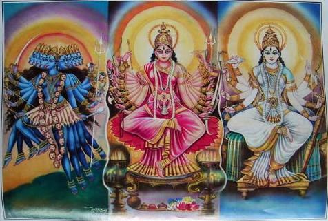 Maha-Kali, Maha-Lakshmi und Maha-Sarasvati